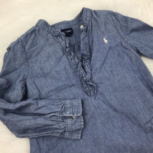 RALPH LAUREN Girls 5 Chambray Denim Dress Tunic